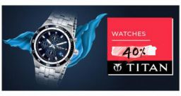 Flat 40% Off on Titan Watches