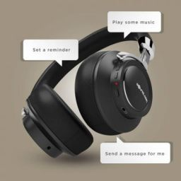 SoundLogic Voice Assistant Wireless Stereo Headphone Bluetooth Headset with Mic  (Black, On the Ear)