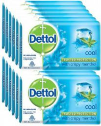 Dettol Bathing Bar Soap, Cool  (1500 g, Pack of 12)