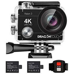 eKlasse EKAC02EG Action Camera 4K Ultra HD, 2 inch Full HD Display, Wi-Fi (Black)