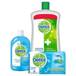 Dettol Handwash Original - 900 ml with Multi Hygiene Cool - 200 ml and Dettol Cool Soap - 125 g