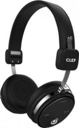 Clef AVENGER Bluetooth Headset with Mic  (Black, On the Ear)
