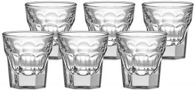 Amazon Brand - Solimo Alissa Shot Glass Set, 30ml, Set of 6, Transparent