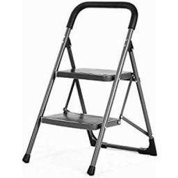 Bathla Boost 2-Step Foldable Steel Ladder with Anti-Slip Steps
