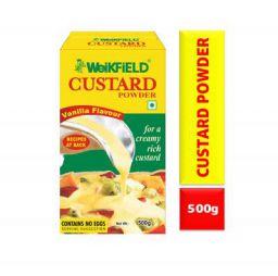 Weikfield Custard Powder, Vanilla Flavour, 500g Carton