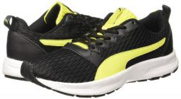 Puma Men's Fabian Blacknrgy Yellowwhite Running Shoes