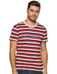 United Colors of Benetton Men's Striped Regular Fit T-Shirt