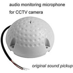 Technotech Round Mic Microphone Sound Monitor CCTV Security Camera Audio Pickup Device