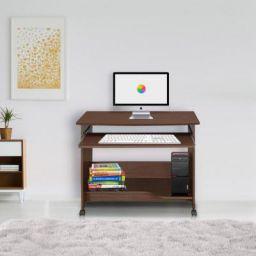 @home by Nilkamal Glenn Engineered Wood Computer Desk  (Straight, Finish Color - Walnut)