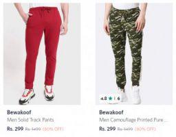 Track pants Minimum 70% Off