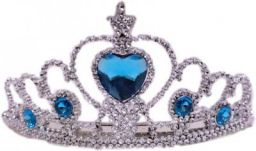 Arvel baby hair crown Heart Princess Head Band / party wear hair attach with heart stone ( silver ) Hair Band  (Silver)