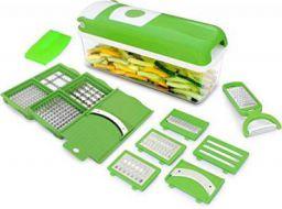Floraware Plastic Vegetable Chopper Set, 10-Pieces, Green