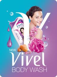 Vivel Body Wash, Lavender and Almond Oil, 200ml
