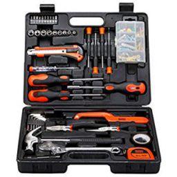 BLACK+DECKER BMT126C Hand Tool Kit (126-Pieces), Orange and Black