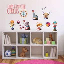 Nilaya by Asian Paints Large Wall Ons Circus Fun Wall Sticker Sticker