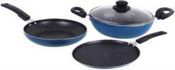 Flipkart SmartBuy Splatter Finish Cookware Set of 3 - Non Induction Bottom  (Aluminium, 3 - Piece)