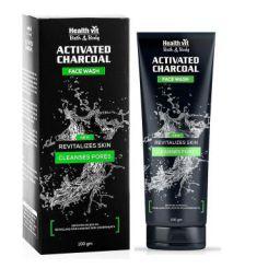 Healthvit Activated Charcoal Facewash, 100g