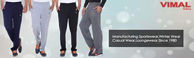 VIMAL Men's Metallic Grey Trackpants