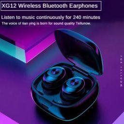 XG12 TWS Bluetooth 5.0 Earphone Stereo Wireless Earbus HIFI Sound Sport Earphones Handsfree Gaming Headset with Mic for