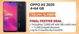 OPPO A5 2020 (Mirror Black 4GB RAM 64GB Storage)