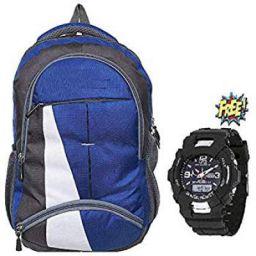 BLUTECH Fabric 30 Ltr Blue Laptop Backpack