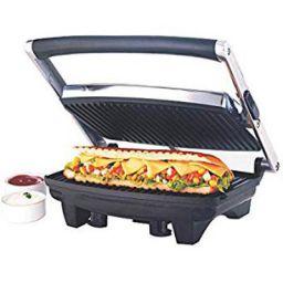 Borosil Jumbo 1000-Watt Grill Sandwich Maker (Black)