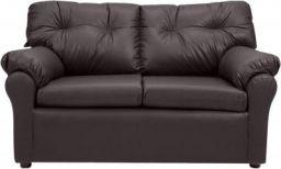 Furny Elzada Two Seater Sofa (Brown Leatherette)