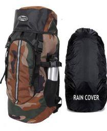 POLESTAR Hike CAMO Rucksack with RAIN Cover/Trekking/Hiking BAGPACK