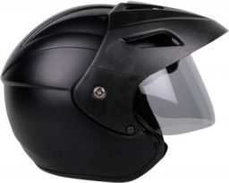 Mototrance TC-2101 Open Face Helmet (Matt Black, L)