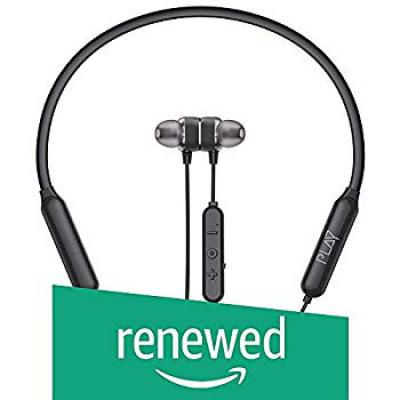 (Renewed) PLAY Wireless Neckband Headset (Black)