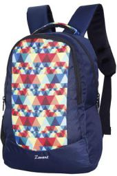 Zwart 25 Ltrs Navy Blue Printed School Backpack (FAZER-Pyramid)