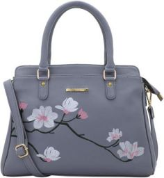 Lapis O Lupo Flower Embroidery Women Handbag