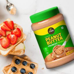 DiSano All Natural Peanut Butter, Crunchy, 30% Protein, Unsweetened, Gluten-Free, 1 Kg