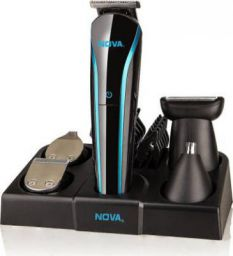 Nova NG 1152/01 USB Runtime: 60 min Trimmer for Men  (Black, Blue)