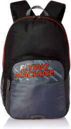 Flying Machine 6 Ltrs Black Red School Backpack