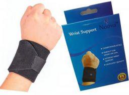 Noova Wrist Wrap Support with Adjustable Velcro Strap, Black - 1 Piece
