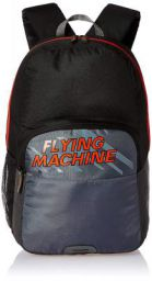 Flying Machine 6 Ltrs Black Red School Backpack (FMSB0067)