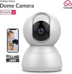 Golden Vision Dome 1080p WiFi Camera (White) - Powered by YI