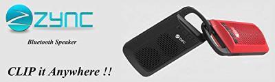 Zync Clip Wireless Mini Portable Bluetooth Speaker with