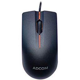 Adcom AD-12526 USB Wired 3D Optical Mouse (Black/Orange)