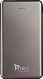 Syska 10000 mAh Power Bank (P1018B-GY, Power Shell 100)  (Grey, Lithium Polymer)