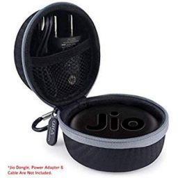 Gizga Essentials G23 Jio Dongle Case for JioFi 4G JMR815 WiFi Hotspot (Black)