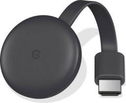 Google CHROMECAST 3 BLK Media Streaming Device (Black)
