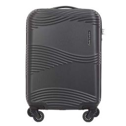 Kamiliant Kam Teku ABS 55 cms Black Hardsided Cabin Luggage (KAM TEKU SP 55cm TSA - Black)