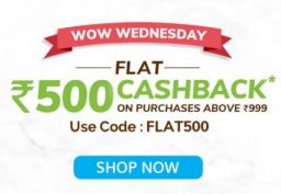 Mamaearth | Wow Wednesday | FLAT 500 Cashback on Purchase Above 999
