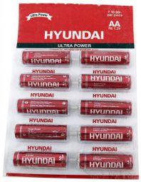 HYUNDAI Carbon ZINC RED HIGH Power R6 AA Battery (Pack of 10 Strip)