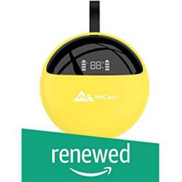 (Renewed) WeCool Moonwalk X2 Innovative Design True Wireless Earbuds for Stereo Music and Bluetooth Earphones with Mic (Release 2019 Yellow)