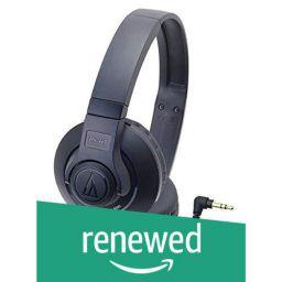 (Renewed) Audio-technica STREET MONITORING Portable Headphone ATH-S300 BK (Black)