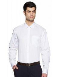 Amazon Brand - Symbol Men's Solid Regular Fit Full Sleeve Cotton Formal Shirt