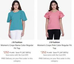 JB Fashion Women's Top at 80% Off